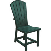 "Generations Dining Adirondack Style Side Chair, Green, 19""L x 17""W x 40""H"