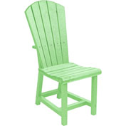 "Generations Dining Adirondack Style Side Chair, Lime Green, 19""L x 17""W x 40""H"