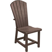 "Generations Dining Adirondack Style Side Chair, Chocolate, 19""L x 17""W x 40""H"