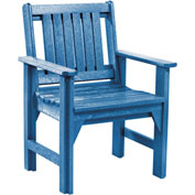 "Generations Dining Slat Back Style Arm Chair, Blue, 21""L x 25""W x 36""H"