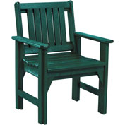 "Generations Dining Slat Back Style Arm Chair, Green, 21""L x 25""W x 36""H"