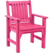 "Generations Dining Slat Back Style Arm Chair, Fuchsia, 21""L x 25""W x 36""H"