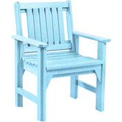 "Generations Dining Slat Back Style Arm Chair, Aqua, 21""L x 25""W x 36""H"