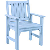 "Generations Dining Slat Back Style Arm Chair, Sky Blue, 21""L x 25""W x 36""H"