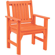 "Generations Dining Slat Back Style Arm Chair, Orange, 21""L x 25""W x 36""H"