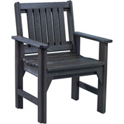 "Generations Dining Slat Back Style Arm Chair, Black, 21""L x 25""W x 36""H"