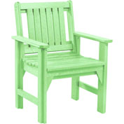 "Generations Dining Slat Back Style Arm Chair, Lime Green, 21""L x 25""W x 36""H"