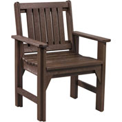 "Generations Dining Slat Back Style Arm Chair, Chocolate, 21""L x 25""W x 36""H"