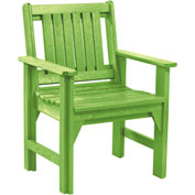 "Generations Dining Slat Back Style Arm Chair, Kiwi Green, 21""L x 25""W x 36""H"