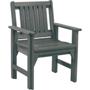 "Generations Dining Slat Back Style Arm Chair, Slate, 21""L x 25""W x 36""H"