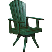 "Generations Dining Arm Swivel Chair, Green, 18""L x 18""W x 39""H"