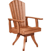 "Generations Dining Arm Swivel Chair, Cedar, 18""L x 18""W x 39""H"