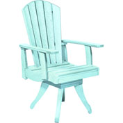 "Generations Dining Arm Swivel Chair, Aqua, 18""L x 18""W x 39""H"