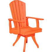 "Generations Dining Arm Swivel Chair, Orange, 18""L x 18""W x 39""H"