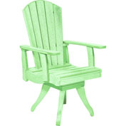 "Generations Dining Arm Swivel Chair, Lime Green, 18""L x 18""W x 39""H"