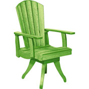"Generations Dining Arm Swivel Chair, Kiwi Green, 18""L x 18""W x 39""H"