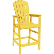 "Generations Dining Adirondack Style Pub Arm Chair, Yellow, 18""L x 18""W x 48""H"
