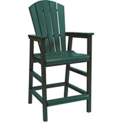 "Generations Dining Adirondack Style Pub Arm Chair, Green, 18""L x 18""W x 48""H"