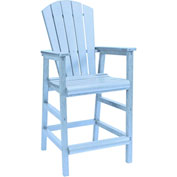 "Generations Dining Adirondack Style Pub Arm Chair, Sky Blue, 18""L x 18""W x 48""H"