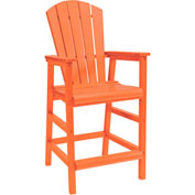 "Generations Dining Adirondack Style Pub Arm Chair, Orange, 18""L x 18""W x 48""H"