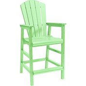 "Generations Dining Adirondack Style Pub Arm Chair, Lime Green, 18""L x 18""W x 48""H"