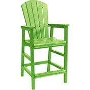 "Generations Dining Adirondack Style Pub Arm Chair, Kiwi Lime, 18""L x 18""W x 48""H"