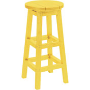 "Generations Dining Pub Style Barstool, Yellow, 14""L x 14""W x 30""H"