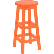 "Generations Dining Pub Style Barstool, Orange, 14""L x 14""W x 30""H"