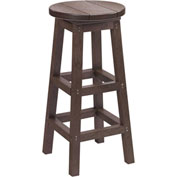 "Generations Dining Pub Style Barstool, Chocolate, 14""L x 14""W x 30""H"