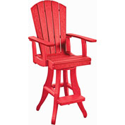 "Generations Swivel Pub Arm Chair, Red, 18""L x 18""W x 48""H"