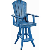 "Generations Swivel Arm Pub Chair, Blue, 18""L x 18""W x 48""H"