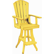 "Generations Swivel Pub Arm Chair, Yellow, 18""L x 18""W x 48""H"