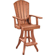 Generations Swivel Arm Pub Chair, Cedar, 18