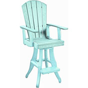 "Generations Swivel Pub Arm Chair, Aqua, 18""L x 18""W x 48""H"