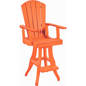 Generations Swivel Arm Pub Chair, Orange, 18