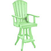 "Generations Swivel Arm Pub Chair, Lime Green, 18""L x 18""W x 48""H"