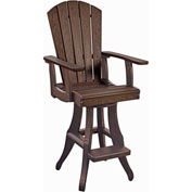 "Generations Swivel Pub Arm Chair, Chocolate, 18""L x 18""W x 48""H"