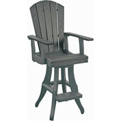 "Generations Swivel Pub Arm Chair, Slate, 18""L x 18""W x 48""H"
