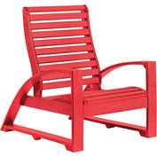 "St Tropez Lounger Chair, Red, 41""L x 29""W x 38""H"