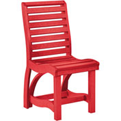 "St Tropez Dining Side Chair, Red, 21""L x 18""W x 39""H"