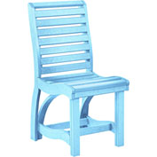 "St Tropez Dining Side Chair, Aqua, 21""L x 18""W x 39""H"