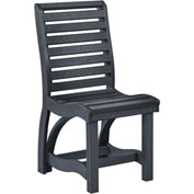 "St Tropez Dining Side Chair, Black, 21""L x 18""W x 39""H"