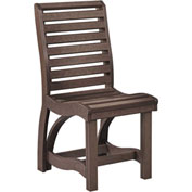 "St Tropez Dining Side Chair, Chocolate, 21""L x 18""W x 39""H"