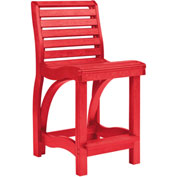 "St Tropez Counter Chair, Red, 21""L x 18""W x 39""H"