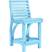 "St Tropez Counter Chair, Aqua, 21""L x 18""W x 39""H"