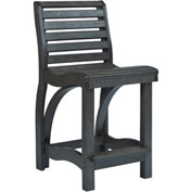 "St Tropez Counter Chair, Black, 21""L x 18""W x 39""H"