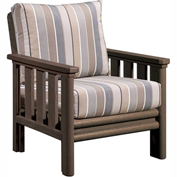 Stratford Outdoor Chair, Chocolate w/ Milano Charcoal Sunbrella Cushions