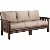 Stratford Outdoor Sofa, Chocolate w/ Berenson Tuxedo Sunbrella Cushions