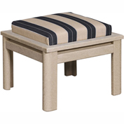 Stratford Outdoor Ottoman Cushion - Small, Berenson Tuxedo