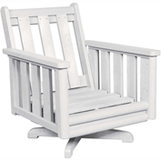 Stratford Outdoor Deep Swivel Chair Frame, White
